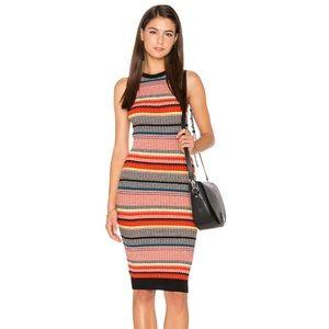 ASTR the Label Barcelona Dress Multi Orange Stripe